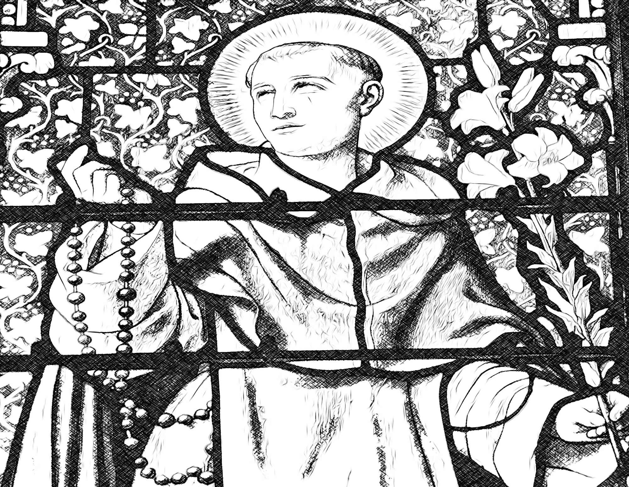 saint-dominic-with-rosary-coloring-page-from-sdcason-dot-com