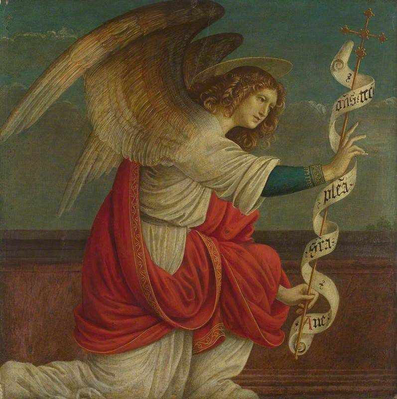 The Angel Gabriel by Gaudenzio Ferrari (16th Century) - Public Domain Catholic Painting