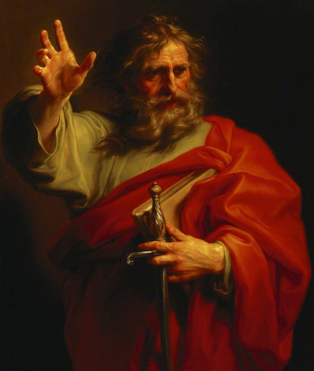 Saint Paul by Pompeo Batoni (18th Century) - Public Domain Catholic Painting