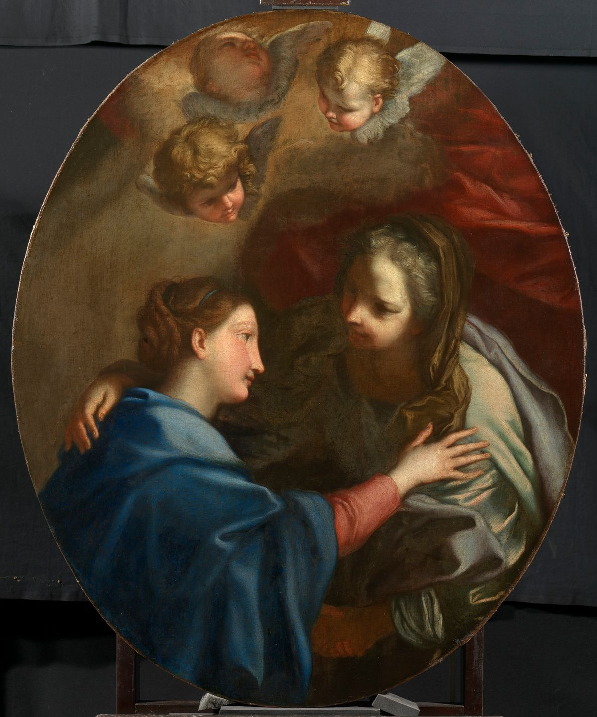 Visitation by Carlo Maratti (17th Century) - Public Domain Catholic Painting
