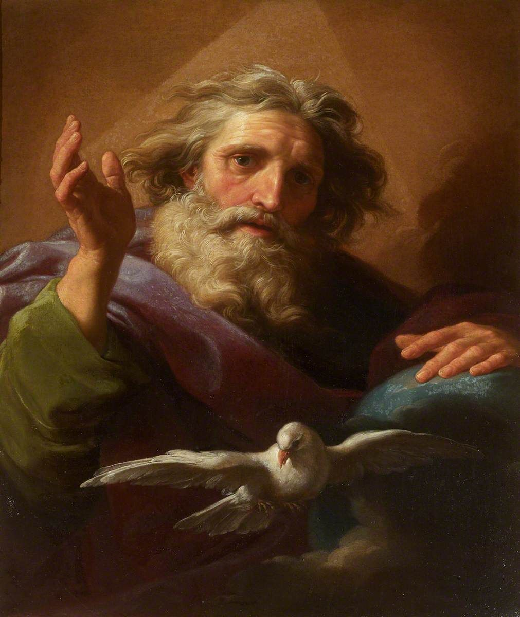 God the Father and the Holy Spirit by Pompeo Batoni (18th Century) - Public Domain Catholic Painting