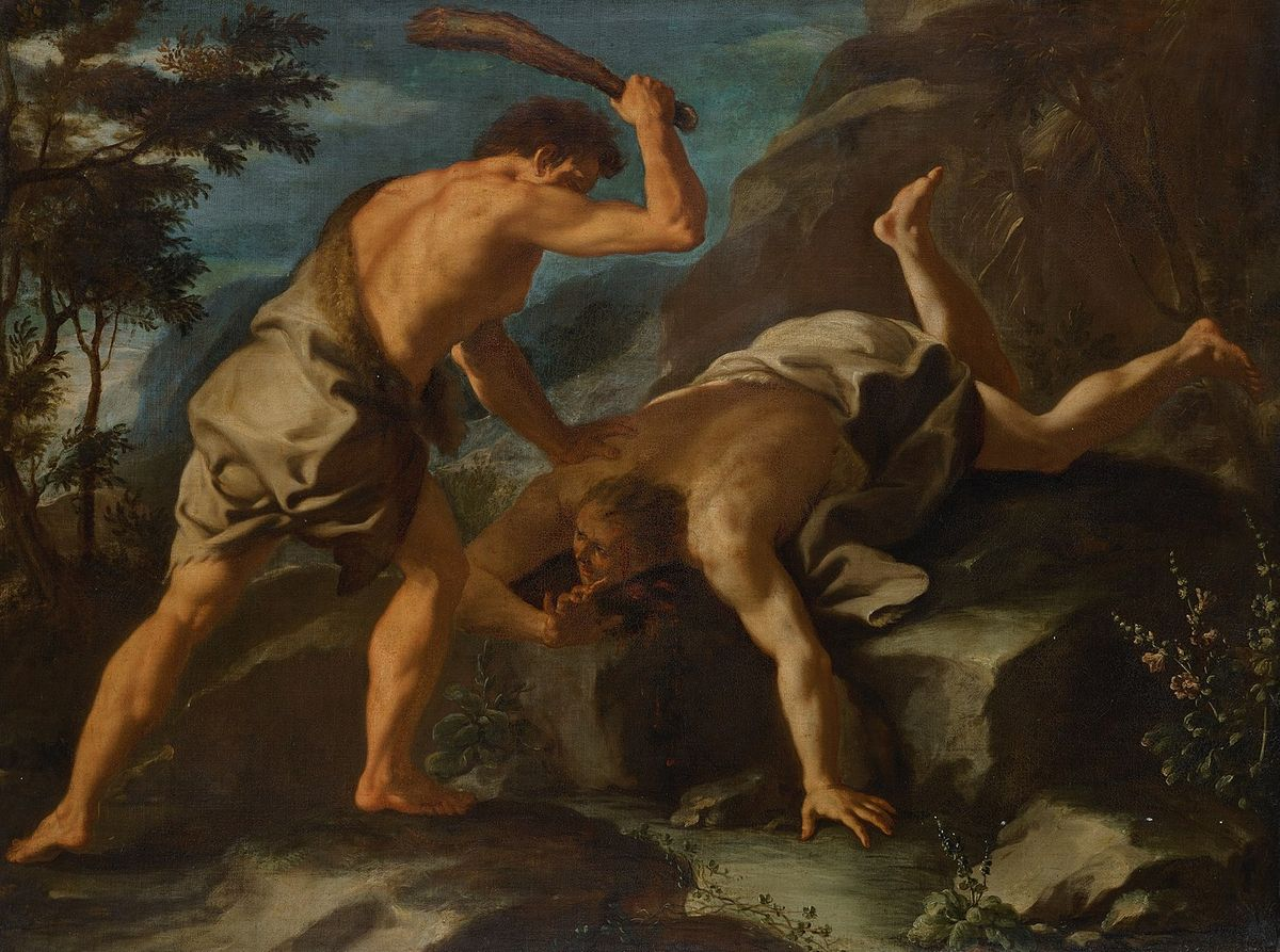 Cain and Abel by Paolo de Matteis (17th Century) - Public Domain Bible Painting