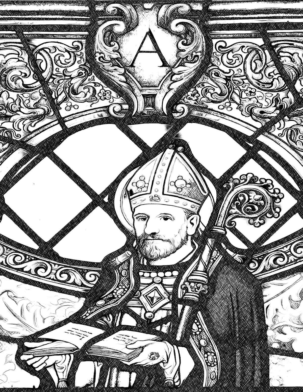 Saint Augustine - Catholic Coloring Page