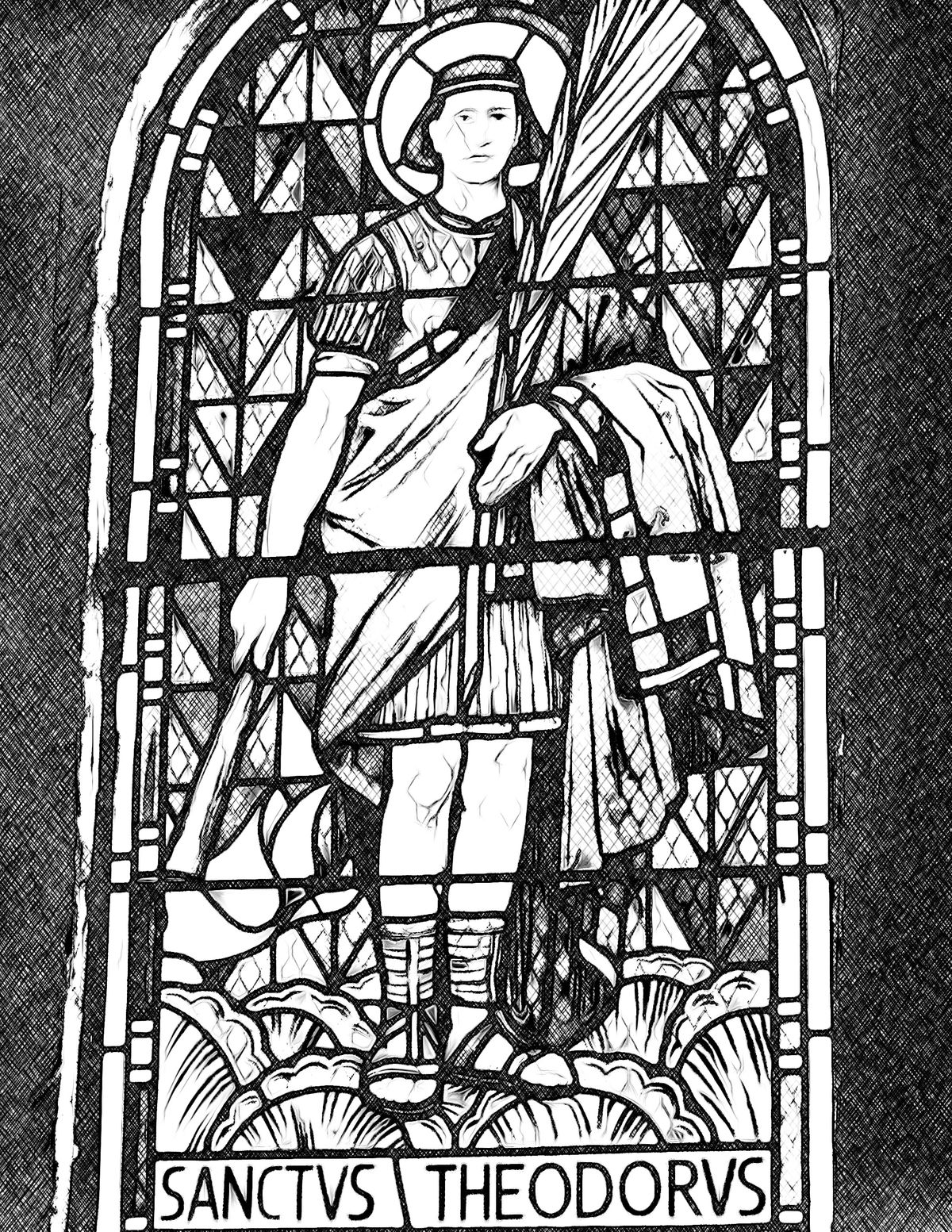 Saint Theodorus - Catholic Coloring Page