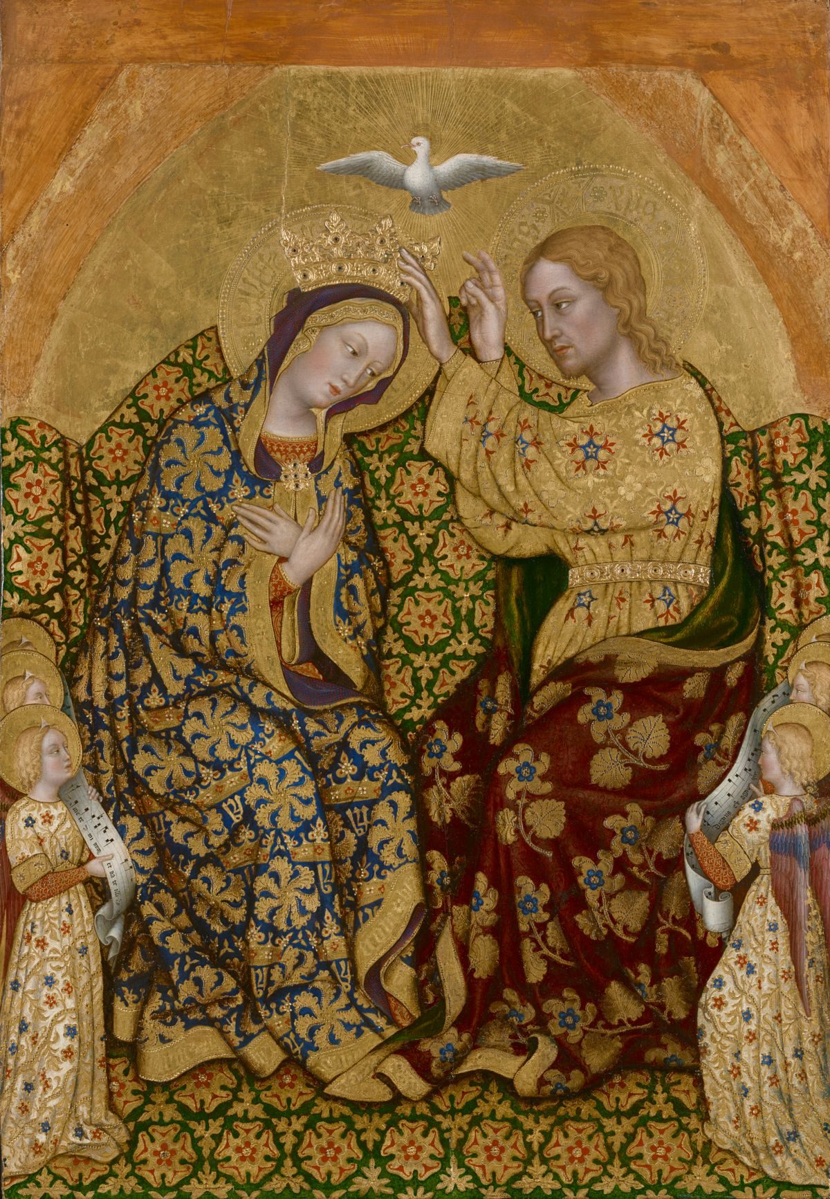 Coronation of the Virgin by Gentile da Fabriano (1420) - Public Domain Catholic Painting