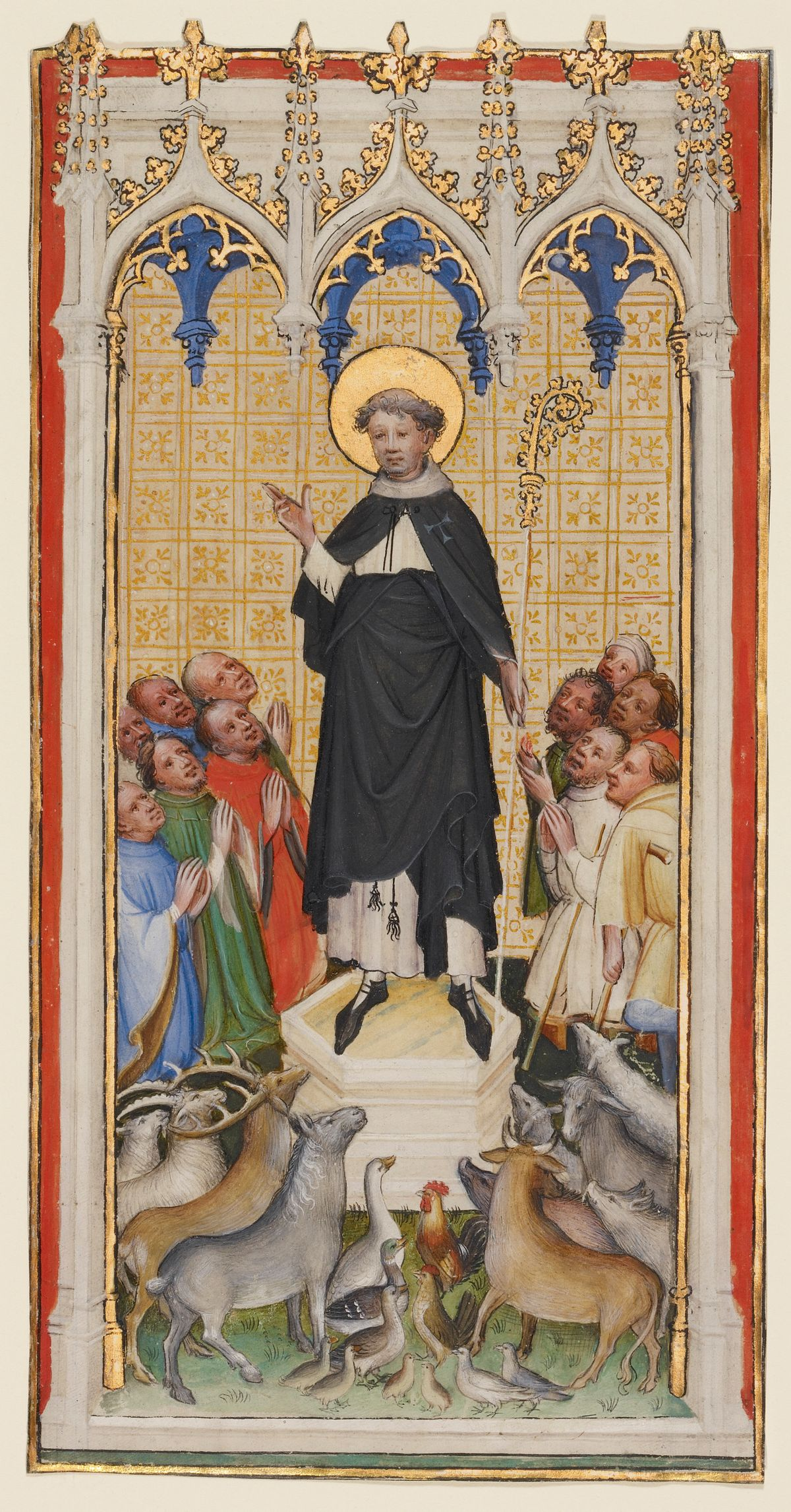 Saint Anthony Abbot by Master of St. Veronica (1400-1410) - Public Domain Catholic Painting