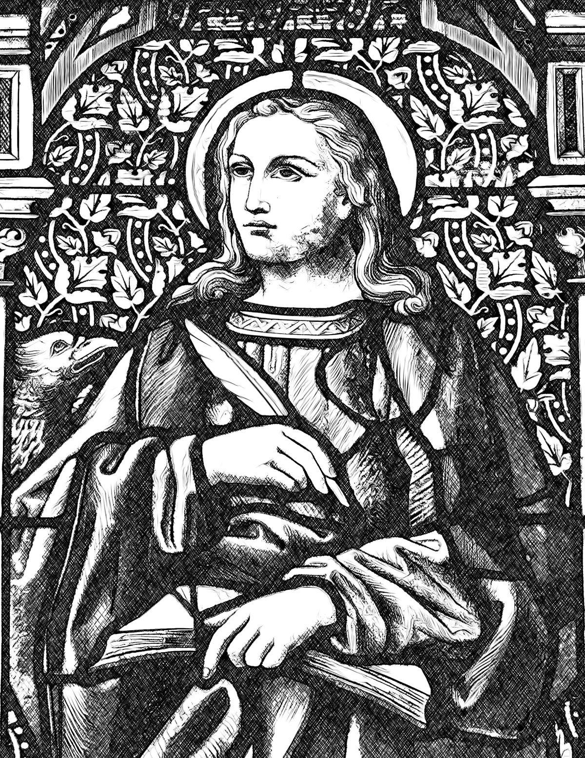 Saint John the Evangelist - Catholic Coloring Page