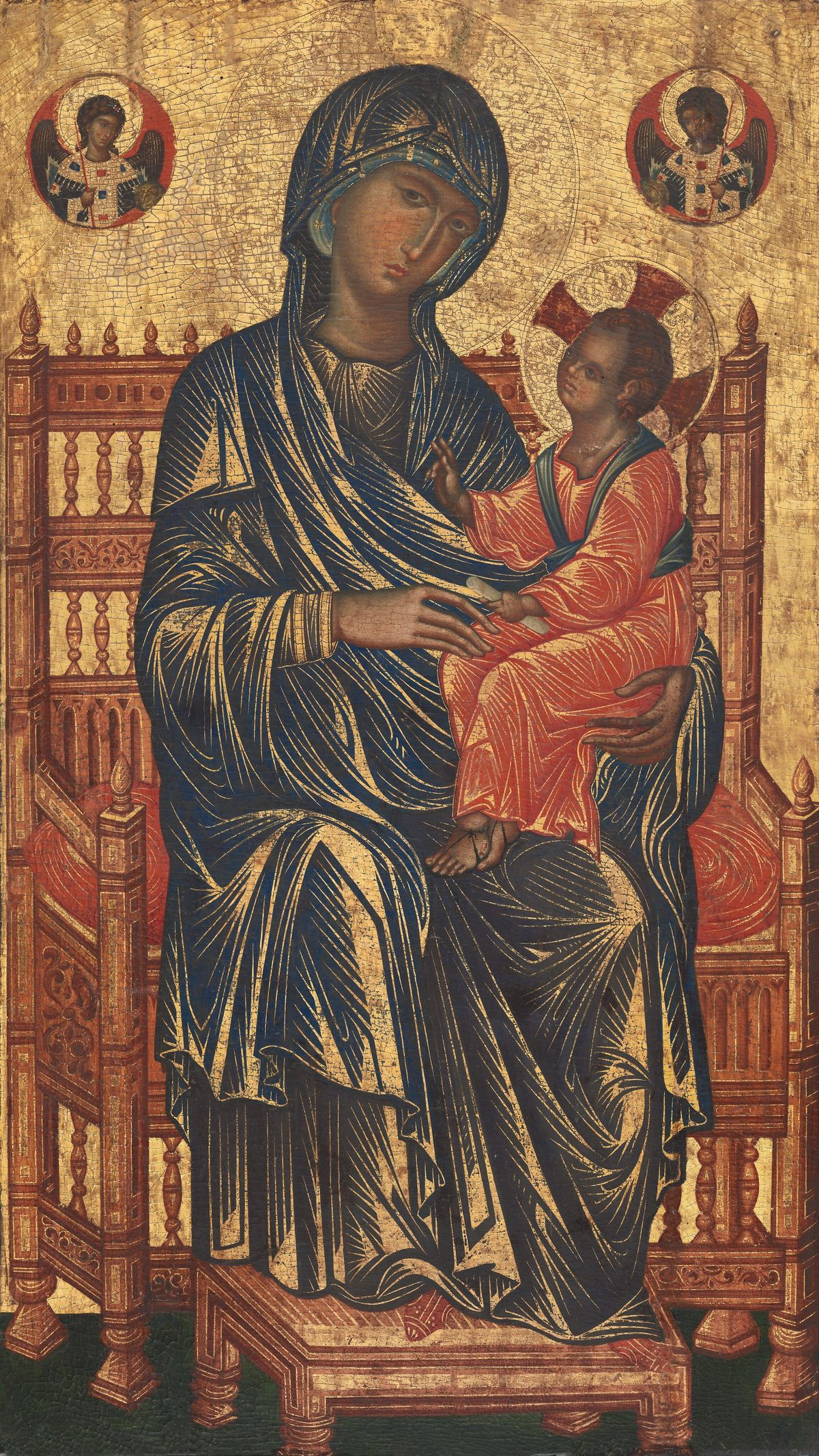 Enthroned Madonna and Child (1250/1275) - Public Domain Catholic Painting