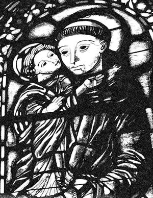 Saint Anthony of Padua with Child Jesus - Catholic Coloring Page