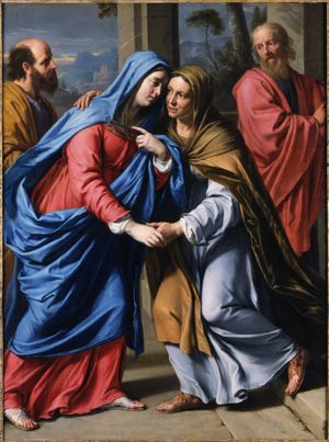 Visitation by De Champaigne Philippe (1643) - Public Domain Catholic Painting