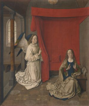 Annunciation by Dieric Bouts (15th Century) - Public Domain Catholic Painting
