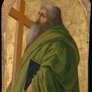 Saint Andrew by Masaccio (1426) - Public Domain Catholic Painting