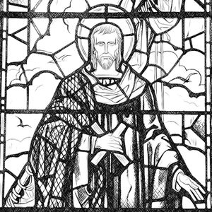 Saint Andrew - Catholic Coloring Page