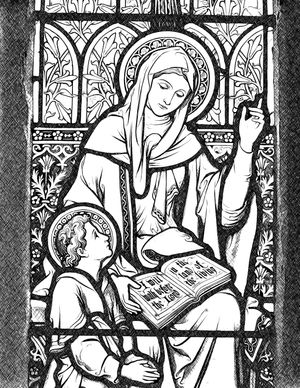 Saint Eunice and Saint Timothy - Catholic Coloring Page
