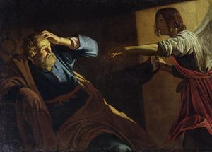 St. Peter Being Freed from Prison by Gerard van Honthorst (1616-1618) - Public Domain Bible Painting