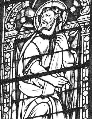 Saint Luke - Catholic Coloring Page