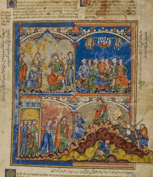 Scenes from the Life of David from the Morgan Picture Bible (1250) - Public Domain Bible Painting