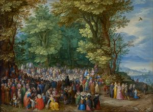 The Sermon on the Mount by Jan Brueghel the Elder (1598) - Public Domain Bible Painting