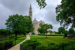 National Shrine of the Immaculate Conception - Catholic Stock Photo