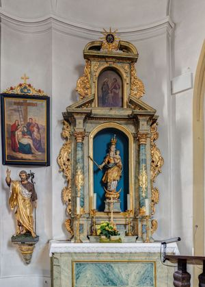 Side Altar at Saints John the Baptist and Ottilie, Forchheim, Germany - Catholic Stock Photo
