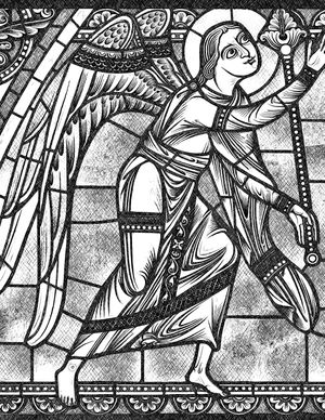Angel - Catholic Coloring Page