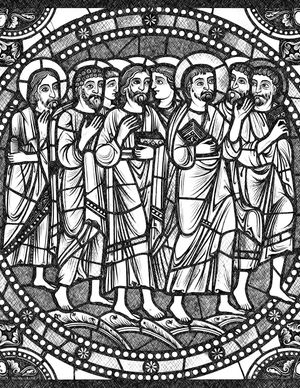 Jesus and the Apostles - Bible Coloring Page