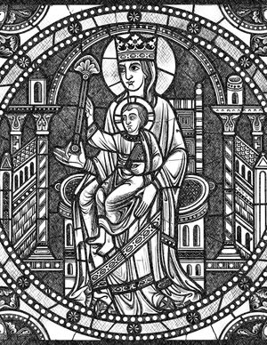 Madonna and Child - Catholic Coloring Page