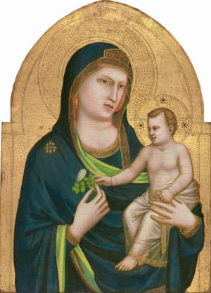 Madonna and Child by Giotto (1310-1315) - Public Domain Catholic Painting