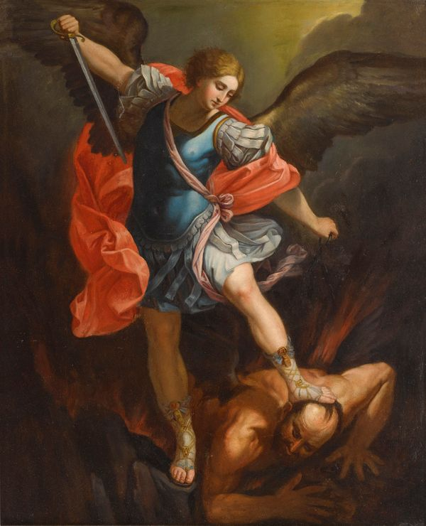 Saint Michael by Guido Reni 1636 - Public Domain Catholic Painting