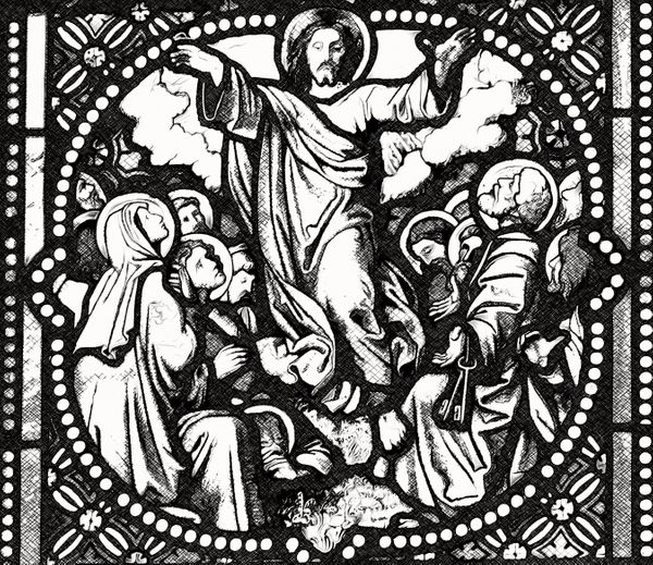 Ascension of Jesus - Catholic Coloring Page