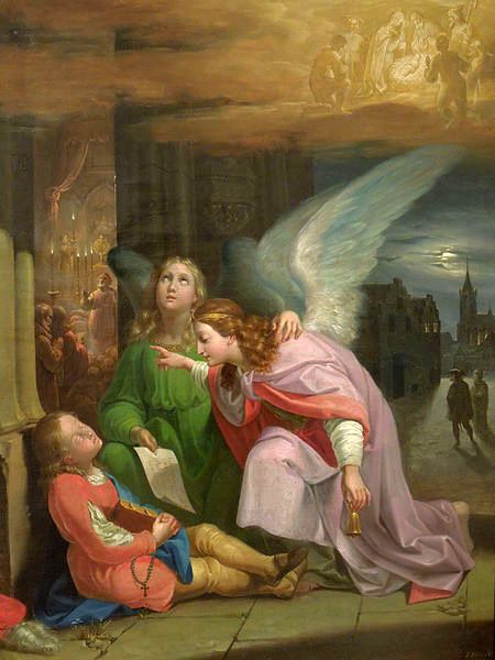 Saint Bernard's Dream by Joseph von Fuhrich - Public Domain Catholic Painting