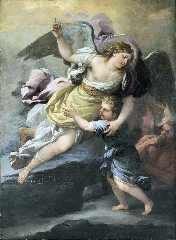 Guardian Angel (18th Century) - Public Domain Catholic Painting