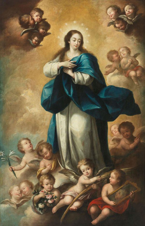 Assumption of the Virgin by Andres de Rubira - Public Domain Catholic Painting