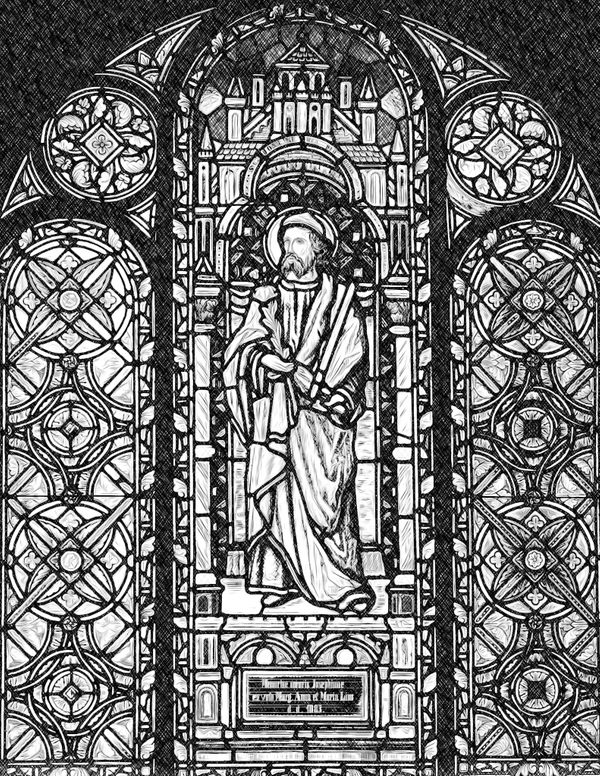 Saint Joseph - Catholic Coloring Page