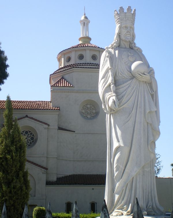 Christ the King Catholic Church, Los Angeles, CA - Catholic Stock Photo