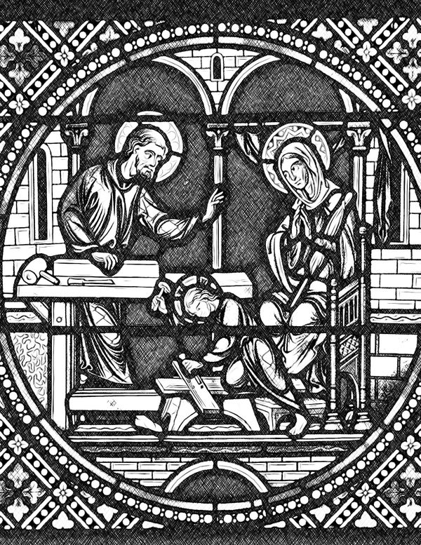 Holy Family - Catholic Coloring Page