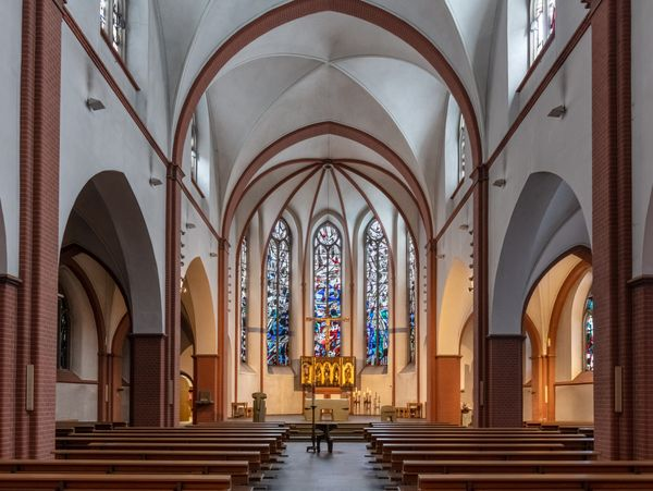 Saint Nicholas Church, Germany - Catholic Stock Photo