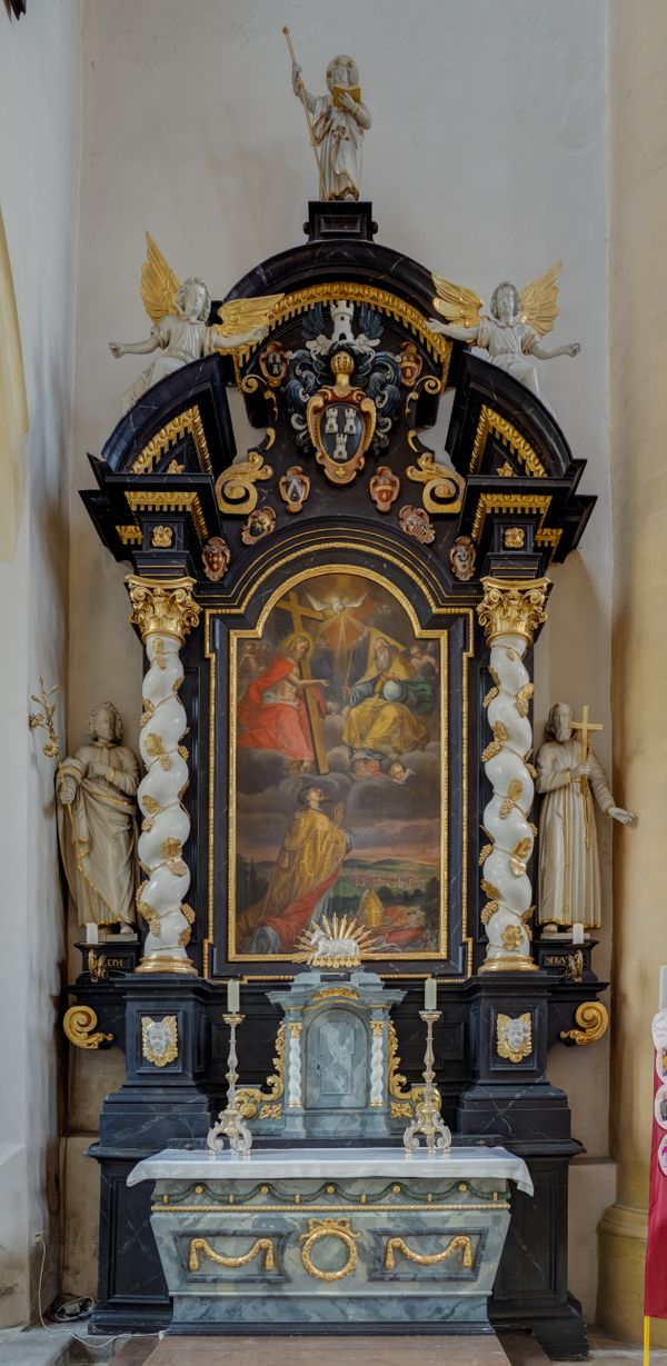 Side Altar in Saint Veit - Catholic Stock Photo