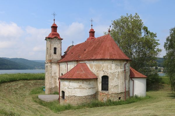 Church of Kelca - Catholic Stock Photo